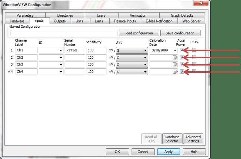 Configuring accelerometer power