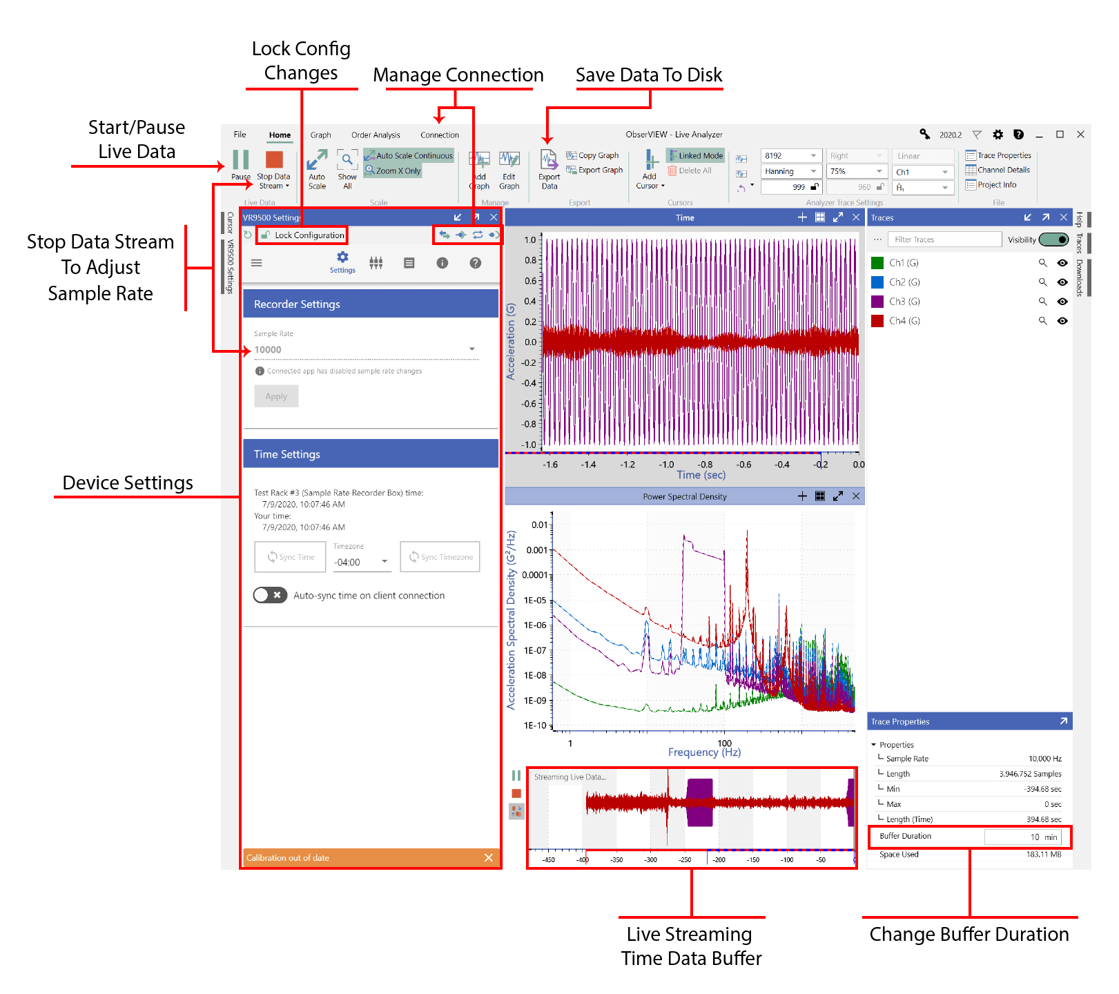 Overview of a Live Analyzer session