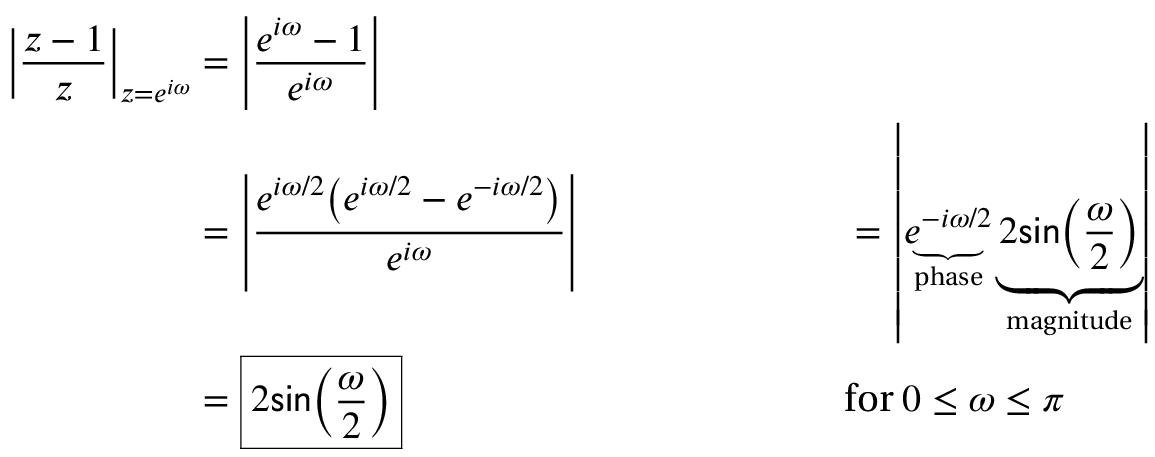 z-transform of y(n)=x(n)-x(n-1)